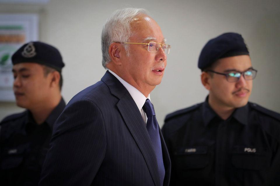 Nadżib Razak, były premier Malezji, wytrawny gracz polityczny, w kuluarach sądu najwyższego w Kuala Lumpur, 12 lutego 2019 r.