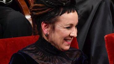 Olga Tokarczuk na dredach miała wyjątkowe ozdoby. Efekt? Znakomity!