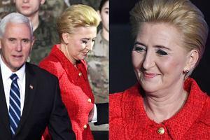 Agata Duda z wiceprezydentem USA