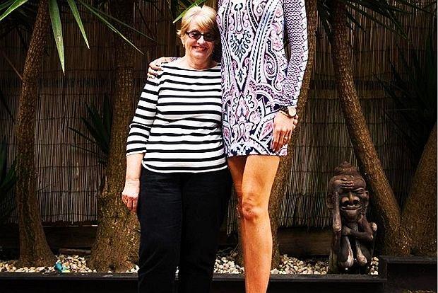 Caroline razem ze swoją mamą