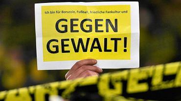 Kibice Borusii Dortmund mówią ''nie'' przemocy i przepraszają fanów RB Lipsk podczas meczu z Herthą