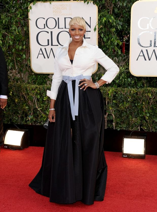 Actress and TV personality NeNe Leakes arrives at the 70th Annual Golden Globe Awards at the Beverly Hilton Hotel on Sunday Jan. 13, 2013, in Beverly Hills, Calif. (Photo by Jordan Strauss/Invision/AP)