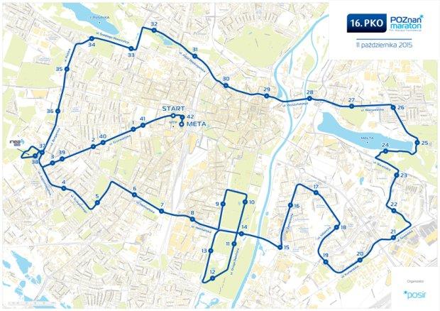 Trasa 16. PKO Poznań Maratonu