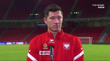 Robert Lewandowski w rozmowie z TVP Sport po meczu z Albanią