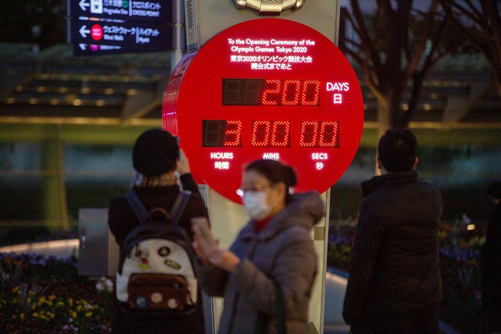Zegar odliczający 200 dni do startu IO w Tokio