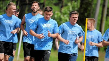 Pierwszy trening piłkarzy Stomilu Olsztyn przed nadchodzącym sezonem 2015/2016