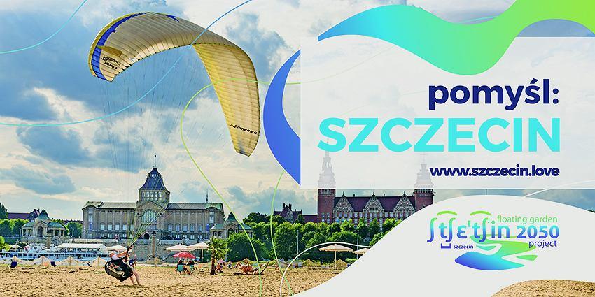 Billboard z latawcami. Plakat w ramach outdoorowej kampanii 'Pomyśl: Szczecin'