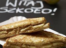 Kanapka z chleba tostowego z bananem i masłem orzechowym - ugotuj