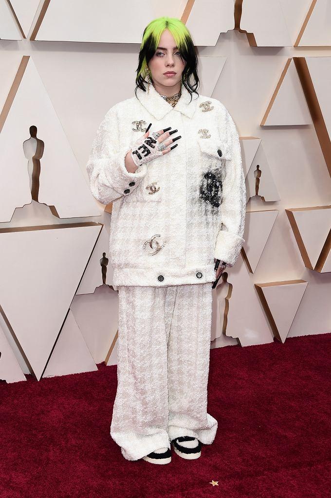 Oscary 2020 - czerwony dywan. Piosenkarka Billie Eilish