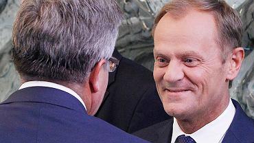 Bronuisław Komorowski i Donald Tusk w BBN