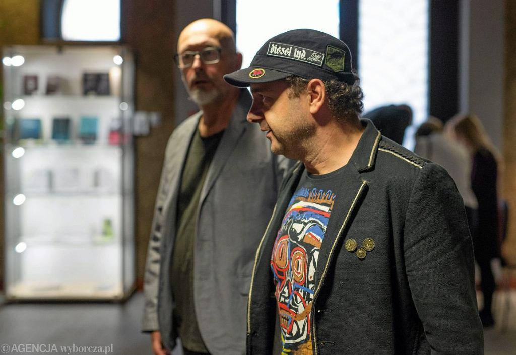 Wojtek Smarzowski i Arkadiusz Jakubik po projekcji filmu ''Wołyń'' (Fot. Łukasz Antczak / Agencja Gazeta)