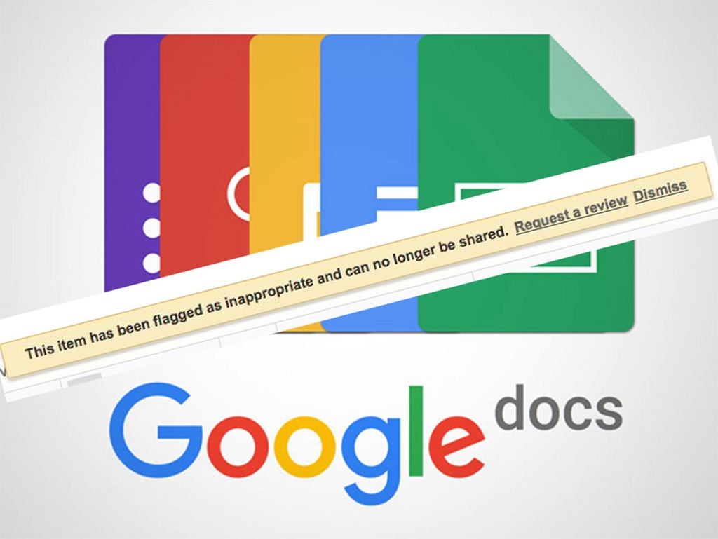 Dziwny błąd Google Docs - niektóre dokumenty uznawane są za nieodpowiednie i blokowane