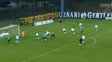 Cudowne rozegranie akcji przez GKS Katowice po rzucie rożnym