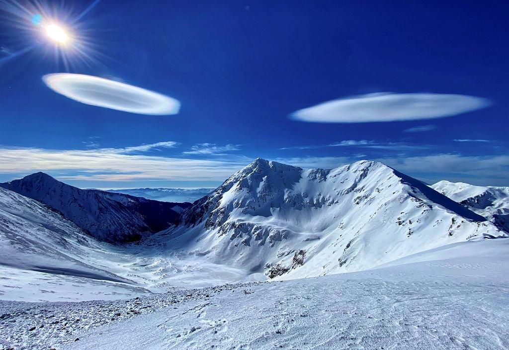 Chmura soczewkowata w Tatrach