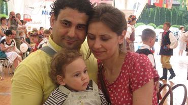 Pani Hamida z mężem i synkiem