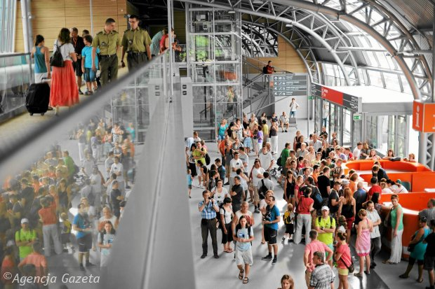 Terminal na lotnisku w Modlinie