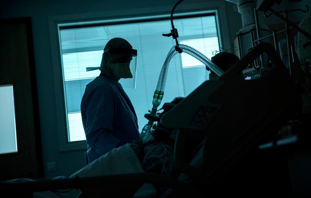 Koronawirus - oddział intensywnej opieki medycznej.