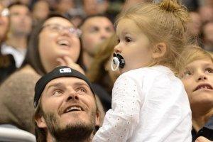 David Beckham z córką Harper