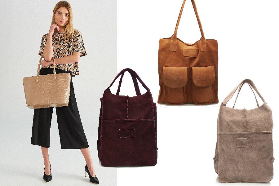 pojemne torebki w neutralnych kolorach