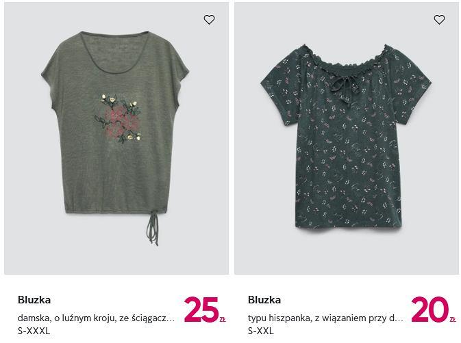 bluzki w atrakcyjnych cenach