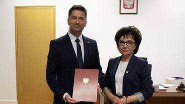 Minister Elżbieta Witek i wiceminister Sylwester Tułajew