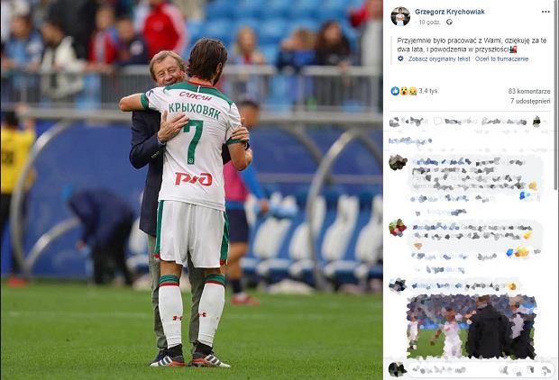 Lokomotiw Moskwa zmienia trenera. Grzegorz Krychowiak pożegnał Jurija Siomina