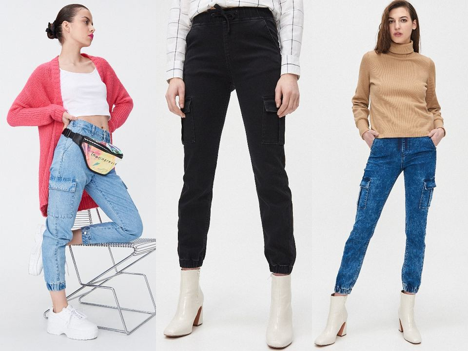 Joggery jeansowe