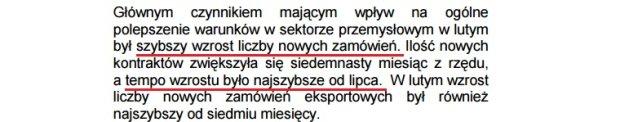 Wg badania PMI nowe zamówienia od klientów rosną w polskim przemyśle coraz szybciej