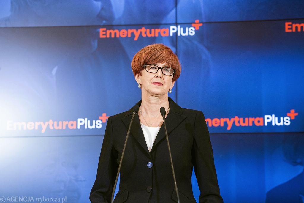 Minister Rodziny i Polityki Społecznej Elżbieta Rafalska
