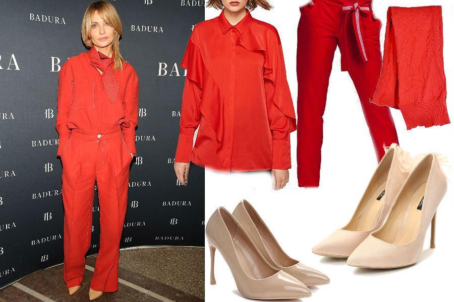 modne ubrania w czerwonym kolorze