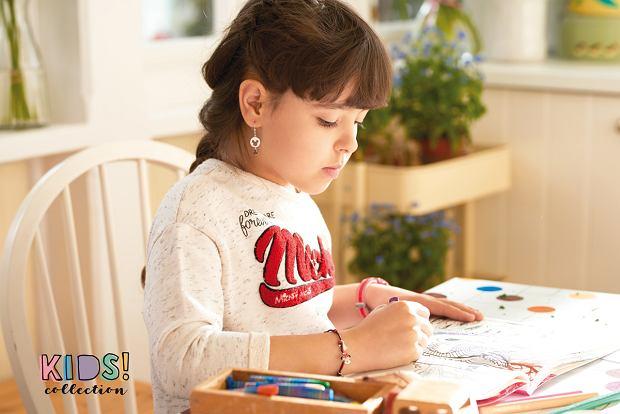 Specjalna kolekcja KIDS, w której znaleźć można urocze srebrne kolczyki dla dziewczynek