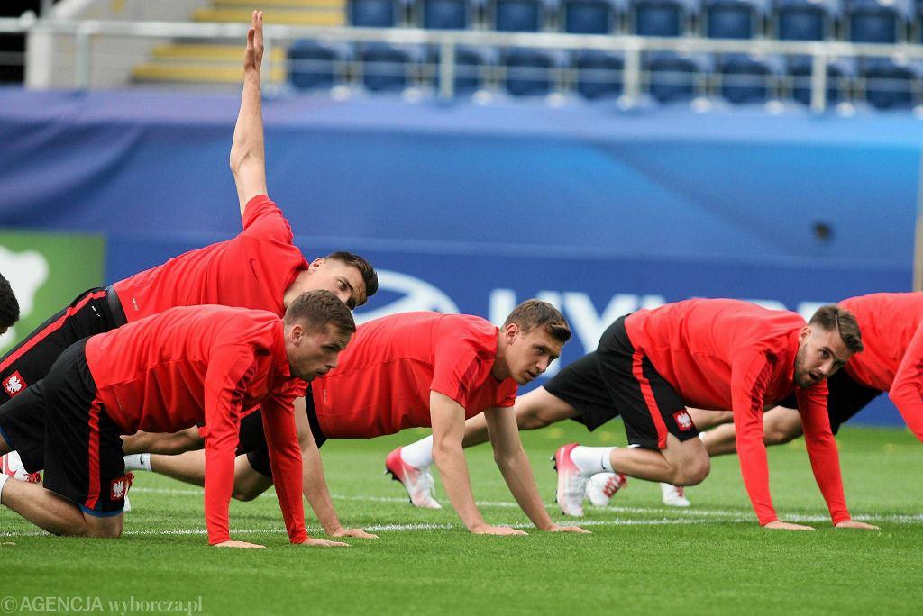 Euro U-21. Arena Lublin. Ostatni trening reprezentacji Polski przed meczem ze Słowacją