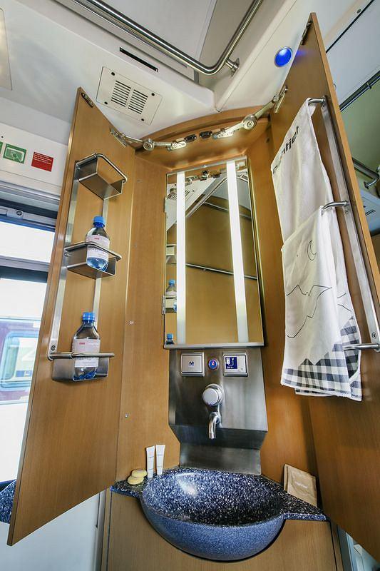 Przedział sypialny pociągów NightJet austriackiego przewoźnika OBB
