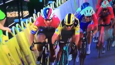 Fabio Jakobsen i Dylan Gronewegen na finiszu 1. etapu Tour de Pologne