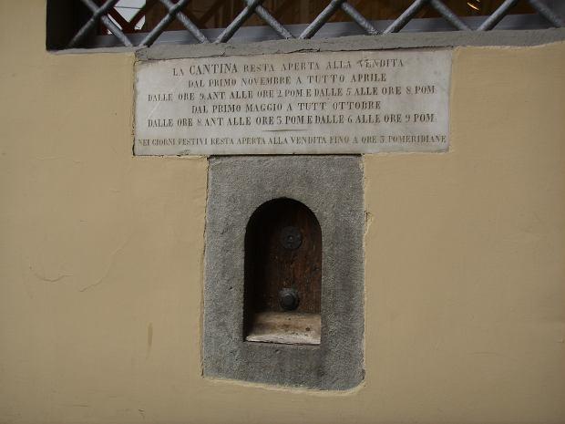 Buchette Del Vino, czyli w dosłownym tłumaczeniu winne okna