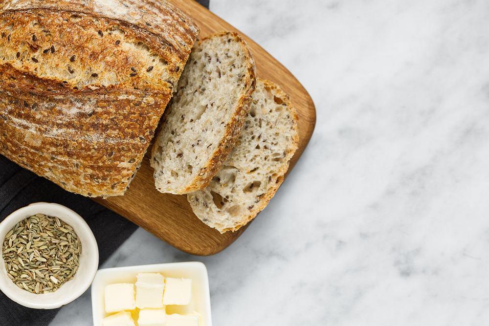 chleb z kiszoną kapustą