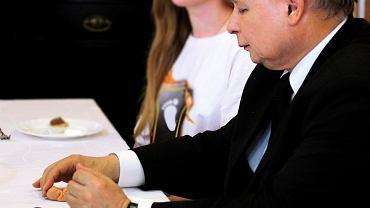 Jarosław Kaczyński - spotkanie z Bractwem Małych Stópek