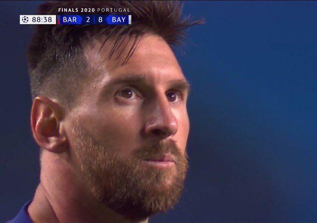 Lionel Messi w trakcie meczu z Bayernem