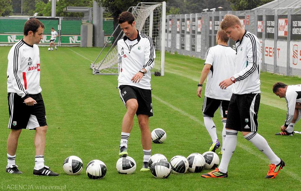 Piłkarze Legii na treningu