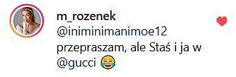 Małgorzata Rozenek odpowiada na krytykę