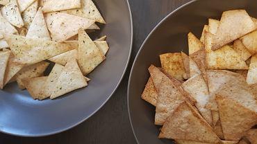 Chipsy z tortilli, czyli domowe nachosy z tortilli pszennej