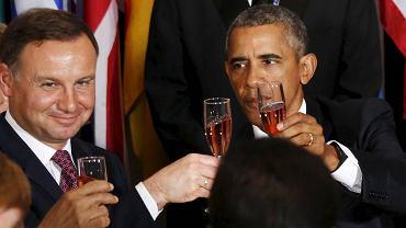 Podczas uroczystego obiadu 70. sesji Zgromadzenia Ogólnego NZ Andrzej Duda usiadł koło prezydenta USA Baracka Obamy