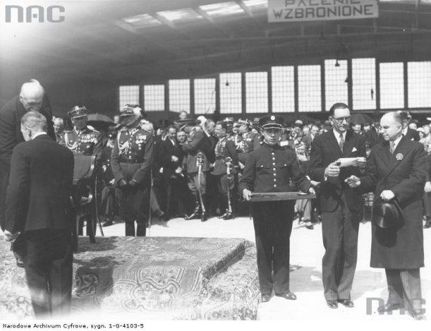 Uroczystość otwarcia portu lotniczego na Okęciu w Warszawie