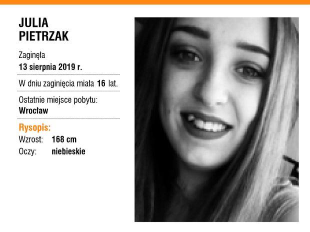 Zaginiona Julia Pietrzak / fot. Centrum Poszukiwań Ludzi Zaginionych ITAKA