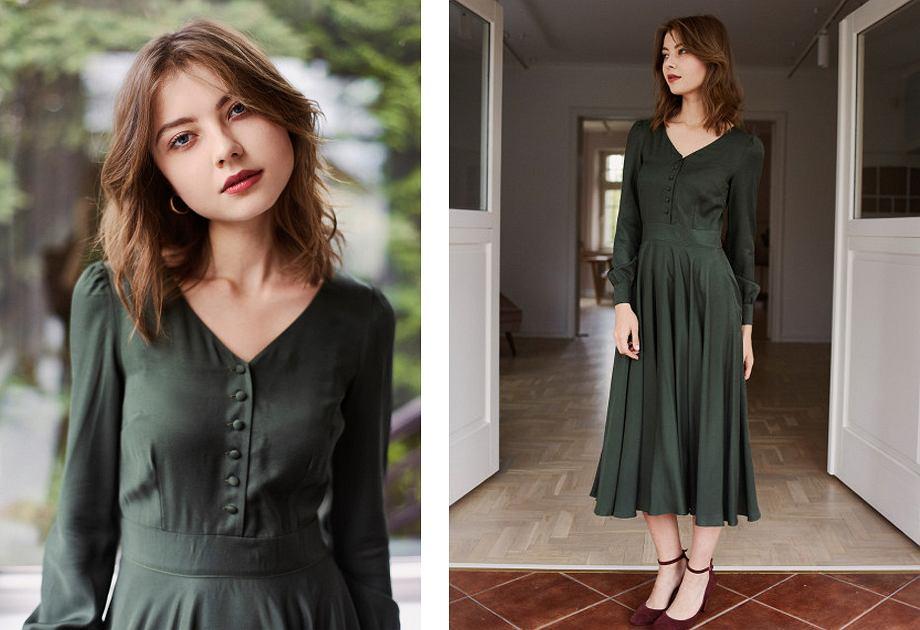 Sukienka Aura marki Marie Zelie to hołd dla tradycyjnej kobiecości