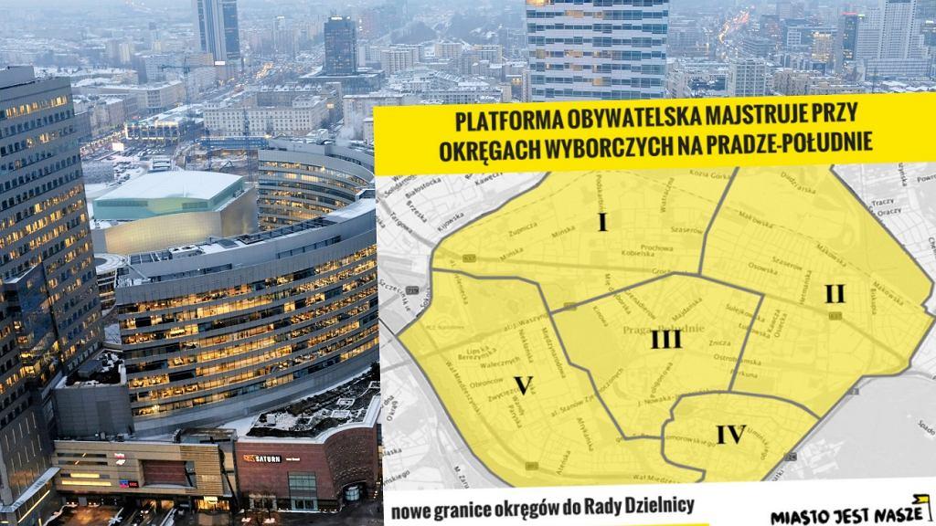 Nowe okręgi w Warszawie