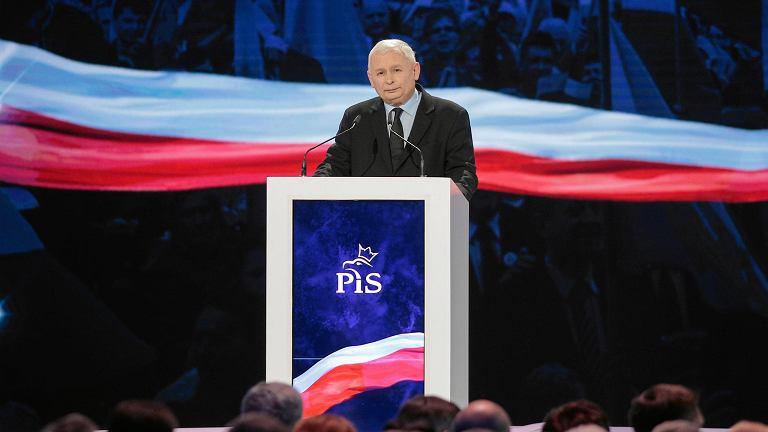 Jarosław Kaczyński przemawia na konwencji PiS