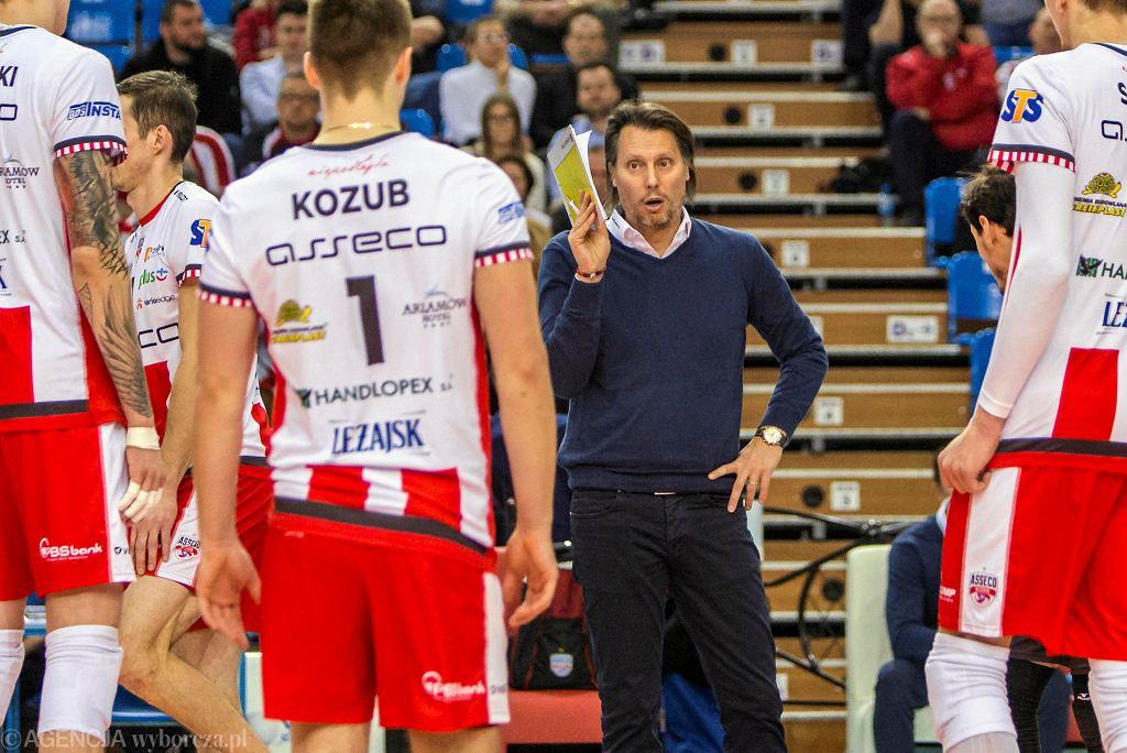 Gheorghe Cretu, trener Asseco Resovii Rzeszów. Asseco Resovia Rzeszow - Cuprum Lubin 3-0