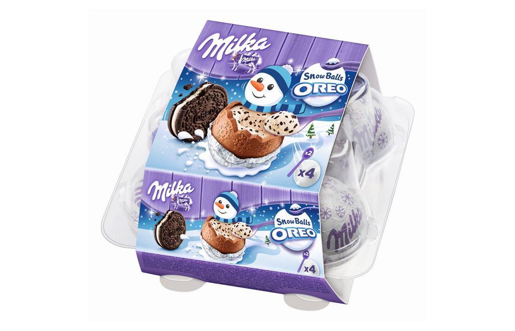 Czekoladowe kulki Milka Snow Balls w wersji Oreo