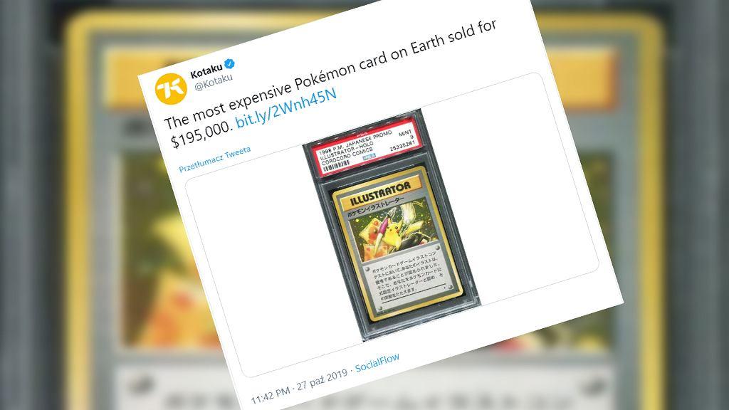 Karta Pikachu Illustrator sprzedana za 195 tys. dolarów